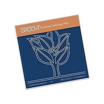 Groovi Leafy Tree A6 Plate