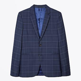 PS Paul Smith  - Fully Lined Check Wool Suit - Navy