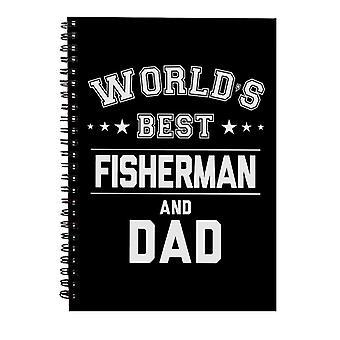 Verdens beste fisker og pappa Spiral Notebook