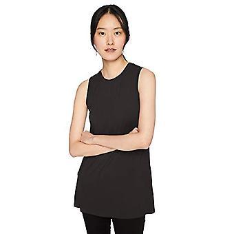 Brand - Daily Ritual Women's Jersey Muscle-Sleeve Swing Tunic, Black, Small