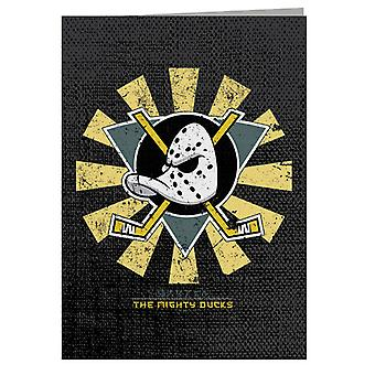 The Mighty Ducks Retro Japanese Greeting Card