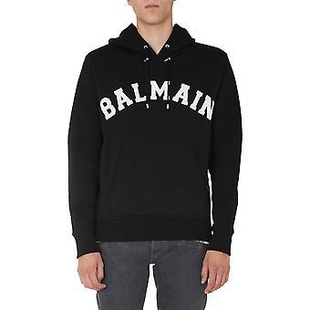 Balmain Uh13642i377eab Mænd's Sort bomuld sweatshirt
