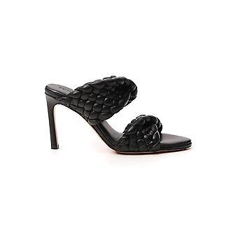 Bottega Veneta 618757vbgt01000 Dames's Zwart lederen sandalen