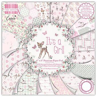 """First Edition 6""""x6"""" Pad - It's a Girl"""
