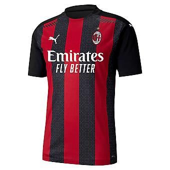 Puma Mens AC Milan Authentic Home Shirt 2020 2021 Domestic Replica dryCELL Top