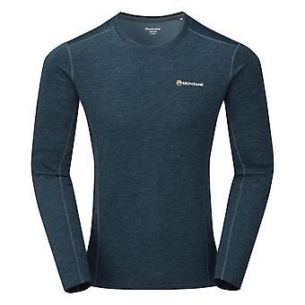 Montane Men's Dart Long Sleeve T-Shirt Blauw