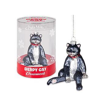 Archie McPhee Derpy Cat Ornament