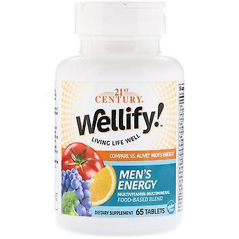 21e eeuw, Wellify! Men's Energy, Multivitamin Multimineral, 65 Tablets