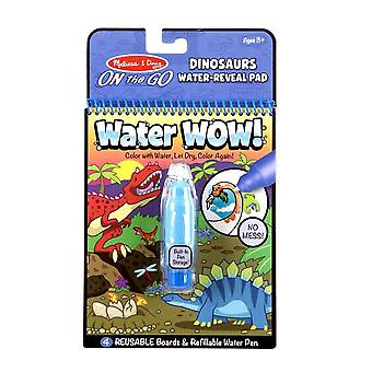 Melissa & Doug Water Wow! Dinosaurs Themed Reuseable Paintiing Book 3+