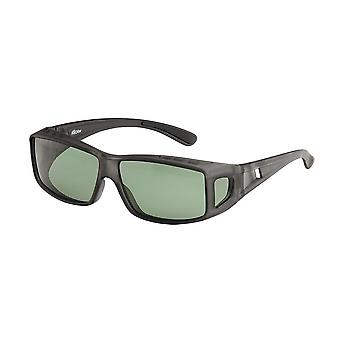 Sunglasses Unisex black with green lens VZ0029A