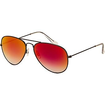 Sunglasses Unisex Gold with Red Mirror Lens (AZ-1190)