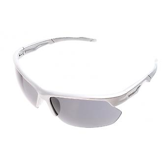 Sunglasses Unisex Sport Silver Half Frame with Grey Lens