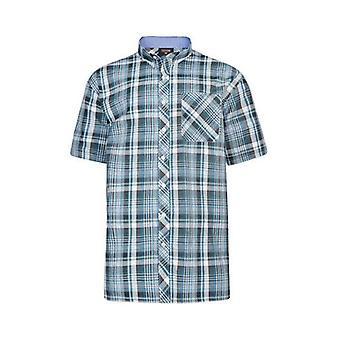 Espionage Navy & Green Check Shirt
