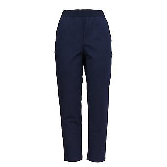 Joan Rivers Femmes's Pantalons Signature régulière Stretch Waist Blue A374754