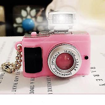 Children Toys Camera With Keychain Mini Simulation Led Light Flashing Camera For Doll Accessories Kids Birthday Gift