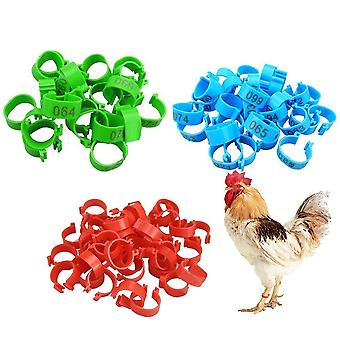 Chicken Leg Bands 100pcs - Chicken Poultry, Pigeon, Geese, Quail, Bird Rings