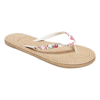 Roxy South Beach II Flip Flops - White Ringer