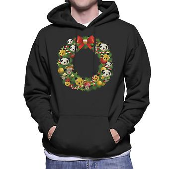 Roetveegpus Kerstkrans Men's Hooded Sweatshirt