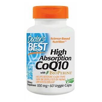 Doctors Best High Absorption CoQ10 with Bioperine, 100 mg, 60 Veggie Caps