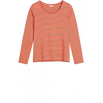 Sandwich Clothing Red Striped Jersey Top