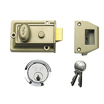 Yale YAL77ENBSC 77 Trad Nightlatch Nickle Brass SC Cilindro 60mm Backset Box