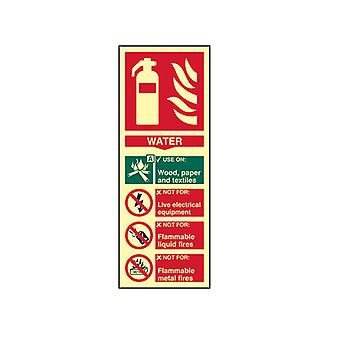 Scan Fire Extinguisher Composite Water - Photoluminescent 75 x 200mm SCA1590