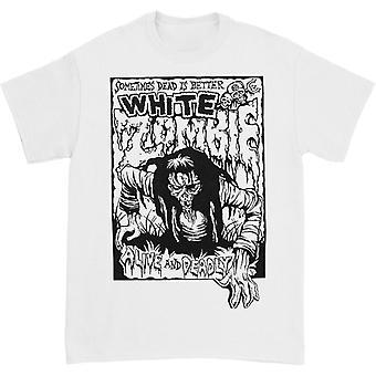 זומבי לבן חי וחולצה קטלנית