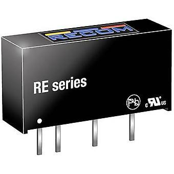RECOM RE-2412S DC/DC omformer (trykk) 12 83 mA 1 W Nr. antall utganger: 1 x