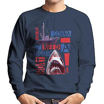 Jaws You Are Gonna Need A Bigger Boat Montage Men's Sweatshirt