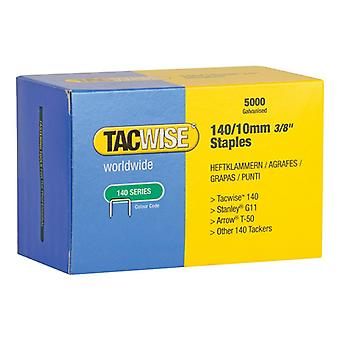 Tacwise 140 Galvanised Staples 10mm (Pack 5000) 0342