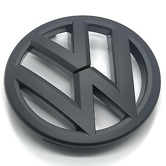 Matt Black VW Volkswagen Golf MK6 edessä grilli bonnet badge tunnus grilli - 2009 jotta 2012