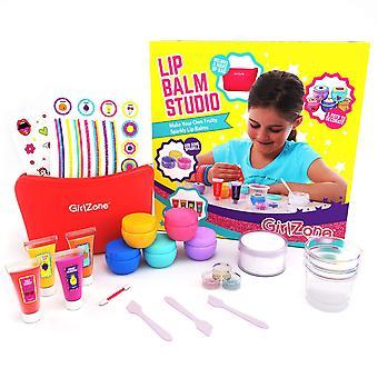 Girlzone: make your own lip balm fun makeup set for girls, 24 pieces