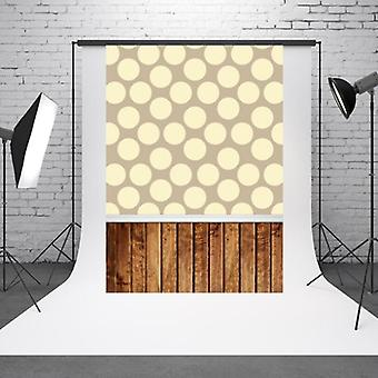 1.5m x 2.1m Light Spot Baby Photo on Vintage Wooden Board Photo Studio Background Cloth