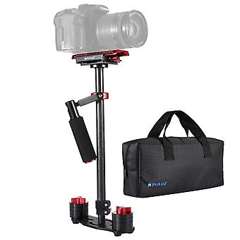 PULUZ 38.5-61cm Carbon Fibre Handheld Stabilizer for DSLR & DV Digital Video & Cameras, Load Range: 0.5-3kg(Red)