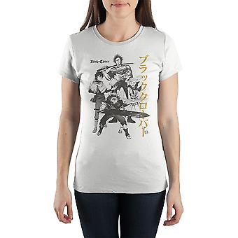 Black clover tshirt character anime apparel