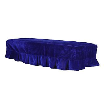 Piano Double Stool Dust Cover Blue Protective   Lace Design Dustproof   Scratch Resistant