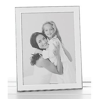 Plain White Silver Promotion Frame 5x7