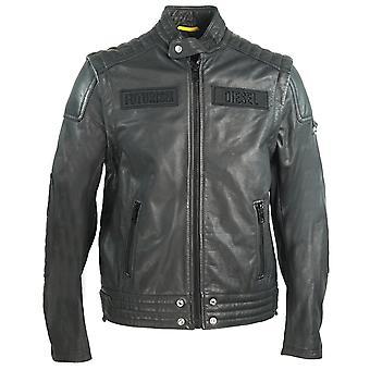Diesel L-Yuja Black Leather Jacket