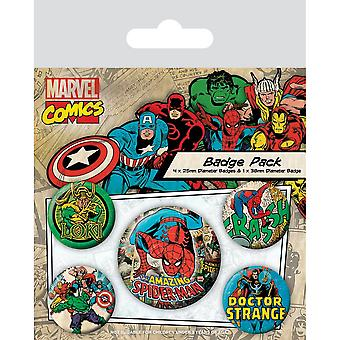 Marvel Comics Spider-Man Badge Set (Pack de 5)