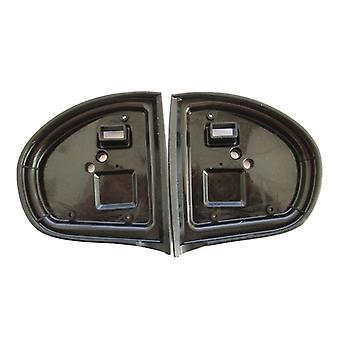 Exterior Mirror Gasket, Rubber Seals, Left & Right (black)