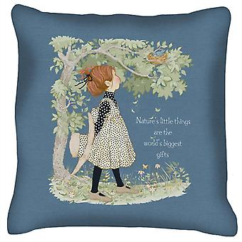 Holly Hobbie Natures Little Things Light Text Cushion