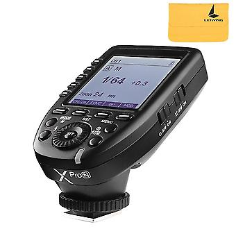 Godox xpro-n i-ttl 2.4g wireless x system high-speed with big lcd screen transmitter for nikon d5 d4