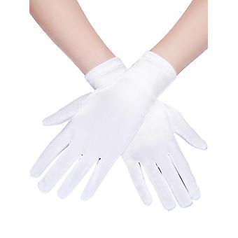 Gants courts de satin gants de longueur de poignet women's gants robe opera gant de robe de banquet de mariage pour par