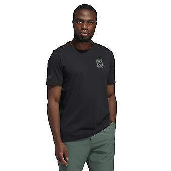 adidas Golf Mens 2021 Kampioenschap Graphic Stretch Clubhouse 3-Stripes T-shirt