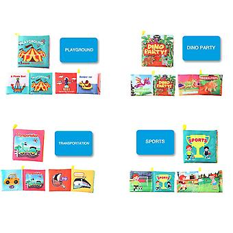 10 Three-dimensional Baby Cloth Books, Early Education Toys, Children's Tear-proof And Washable Palm Books