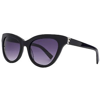 Französisch Verbindung Premium Cateye Sonnenbrille - glänzend schwarz