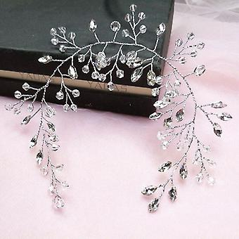 Noiva Hair Band White Crystal Headband Wedding Bridal Hair Ornamentos para Noiva