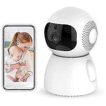 Ndoor كاميرا المنزل الذكية اللاسلكية مع الرؤية الليلية، الطفل رصد المنزل واي فاي الأمن كاميرا الصوت / الحركة الكشف عن متاح رصد الطفل / الأكبر / الحيوانات الأليفة تراكب
