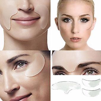 5 unids/set mujeres cuidado de la piel antiarrugas líneas de ojos chin pads (un 5pcs)