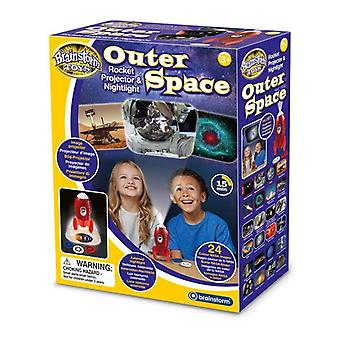 Outer space rocket projector nightlight